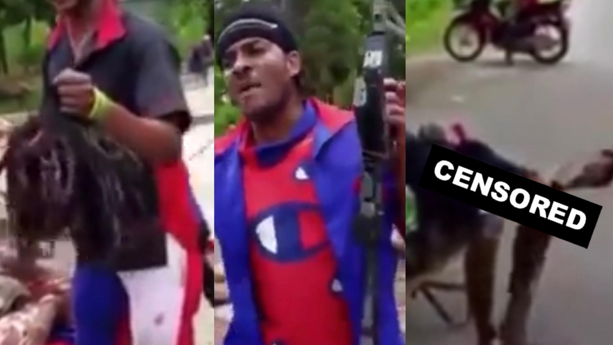 SENSITIVE CONTENT: SAVAGE HAITIANS SACRIFICE MANS BODY PARTS