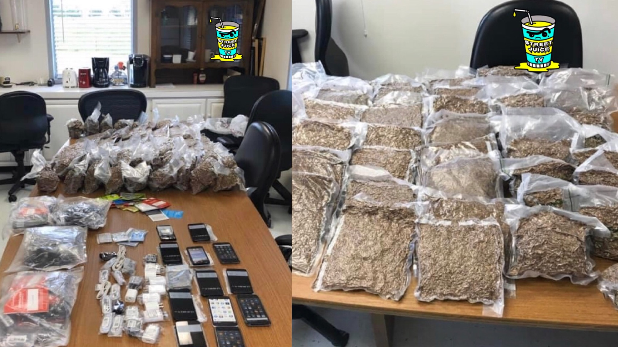 South Carolina Prison Guards Seize 157 Pounds Of Tobacco And 37 Phones With Chargers In Contraband