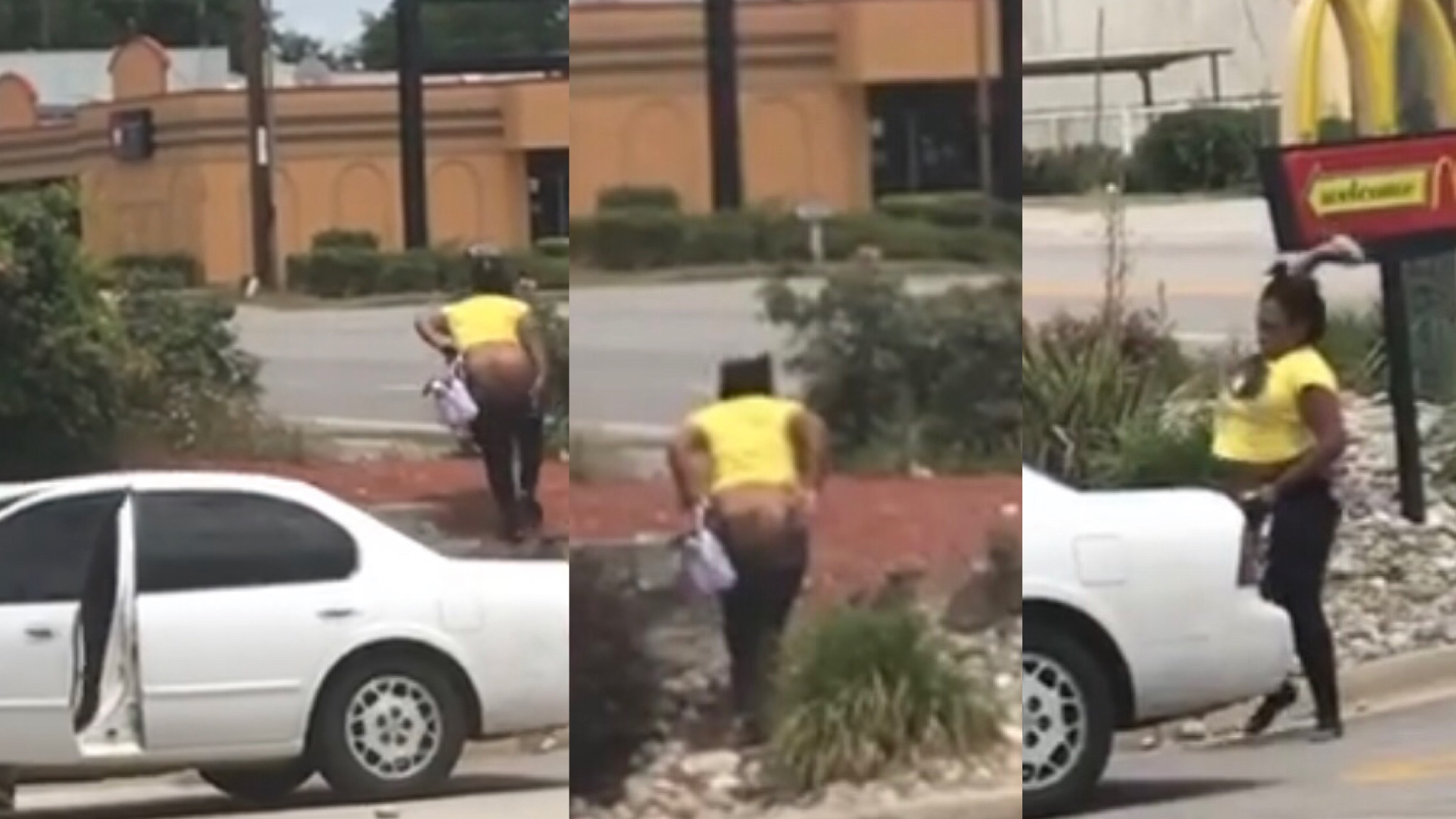 S.C. Man Kicks Escort Out His Car At McDonald's Then She Bussed The Windows Out His Car