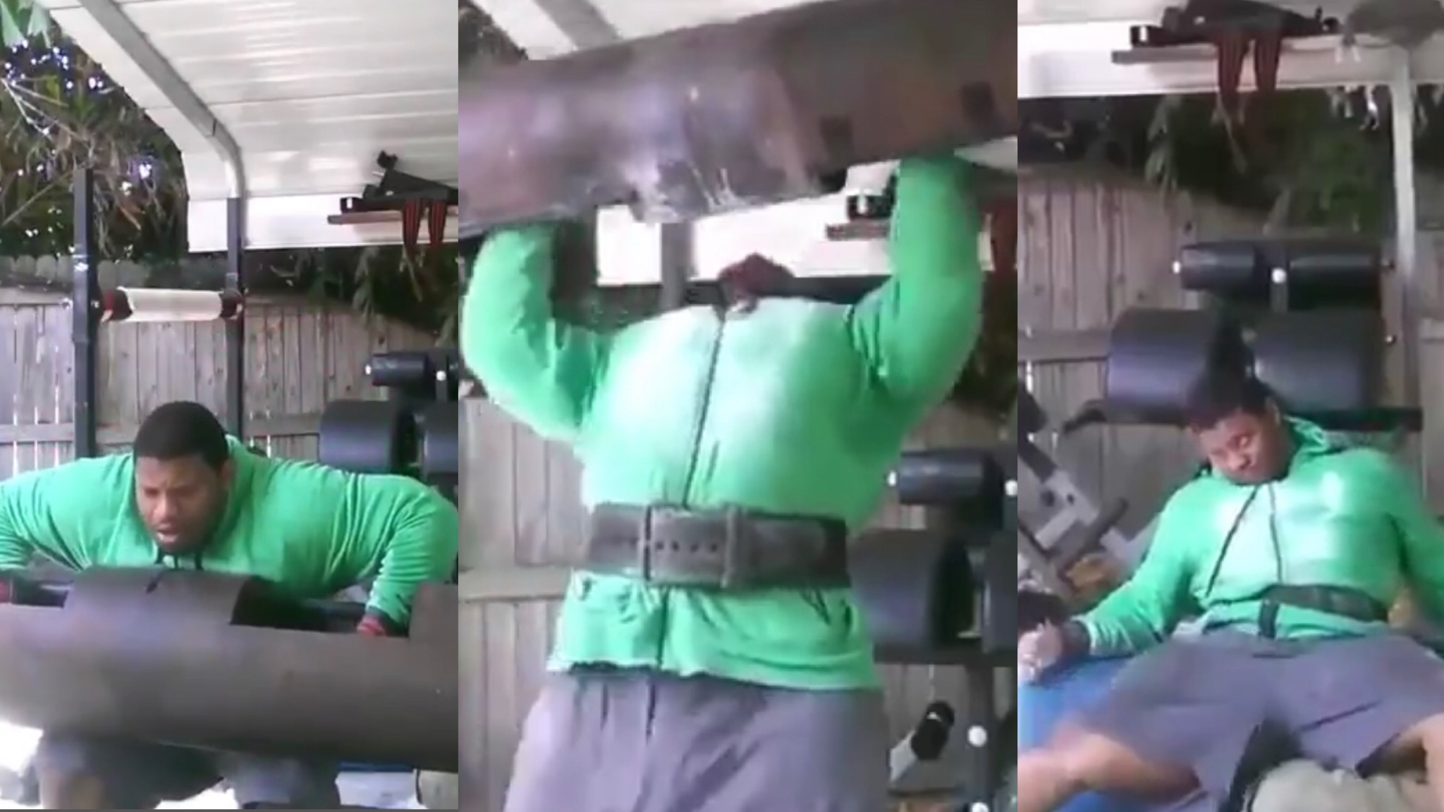 HE NEED SOME MILK!! Man almost kills himself lifting 500 pound weight