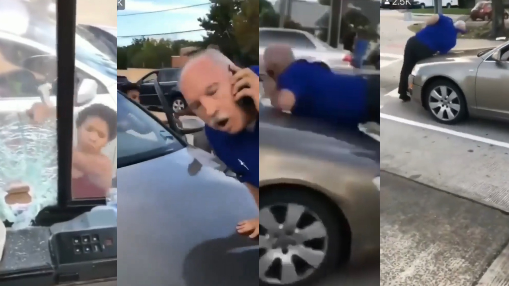 Black Women Goes Mayhem In The Street! Runs Over Old White Man Who Wouldn't Move!!