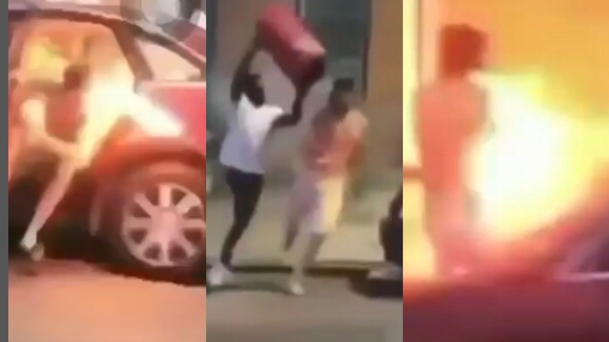 Chicago Steppers Shoot Firecrackers At A Opp Lackin In His Car