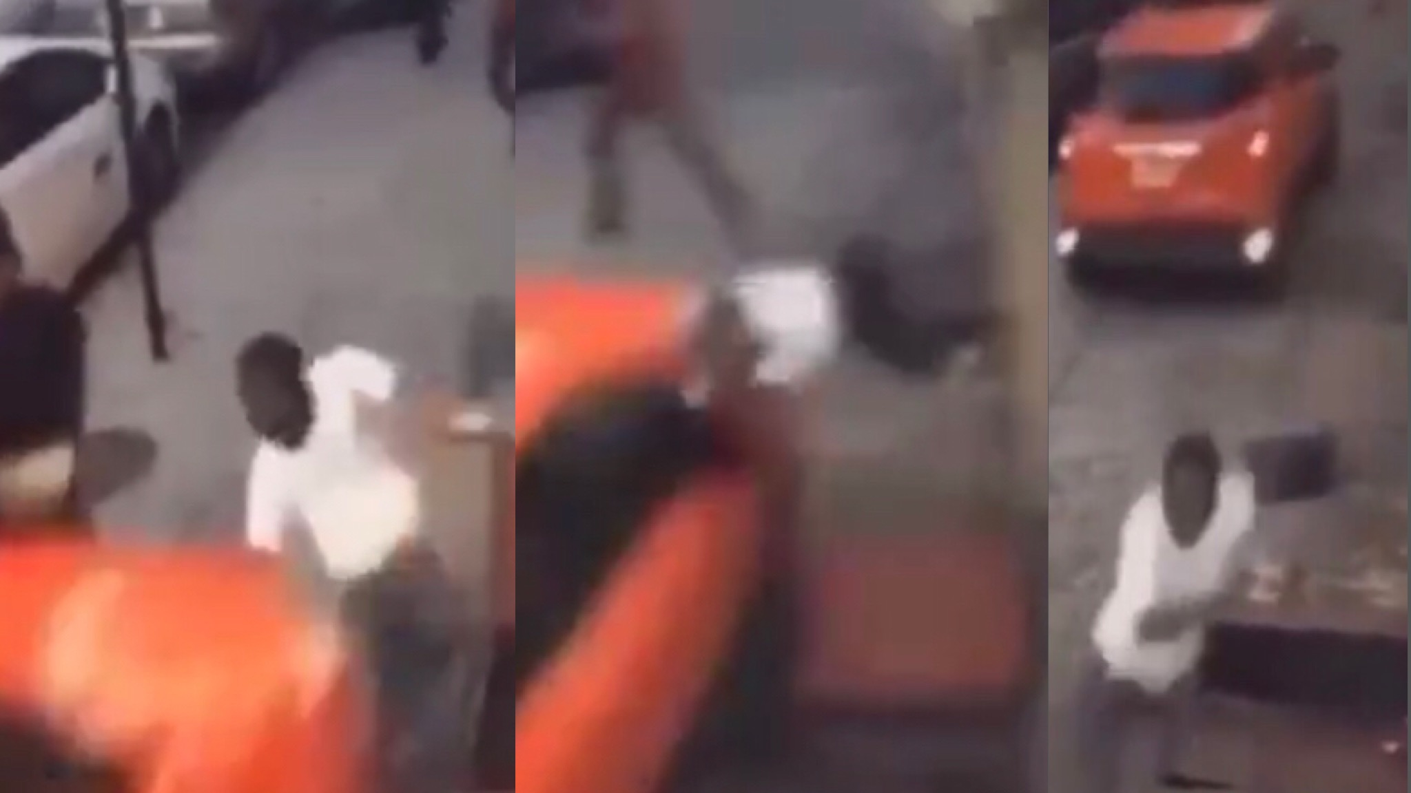 Psychotic Women Tries To Kill Her BF With Her Car