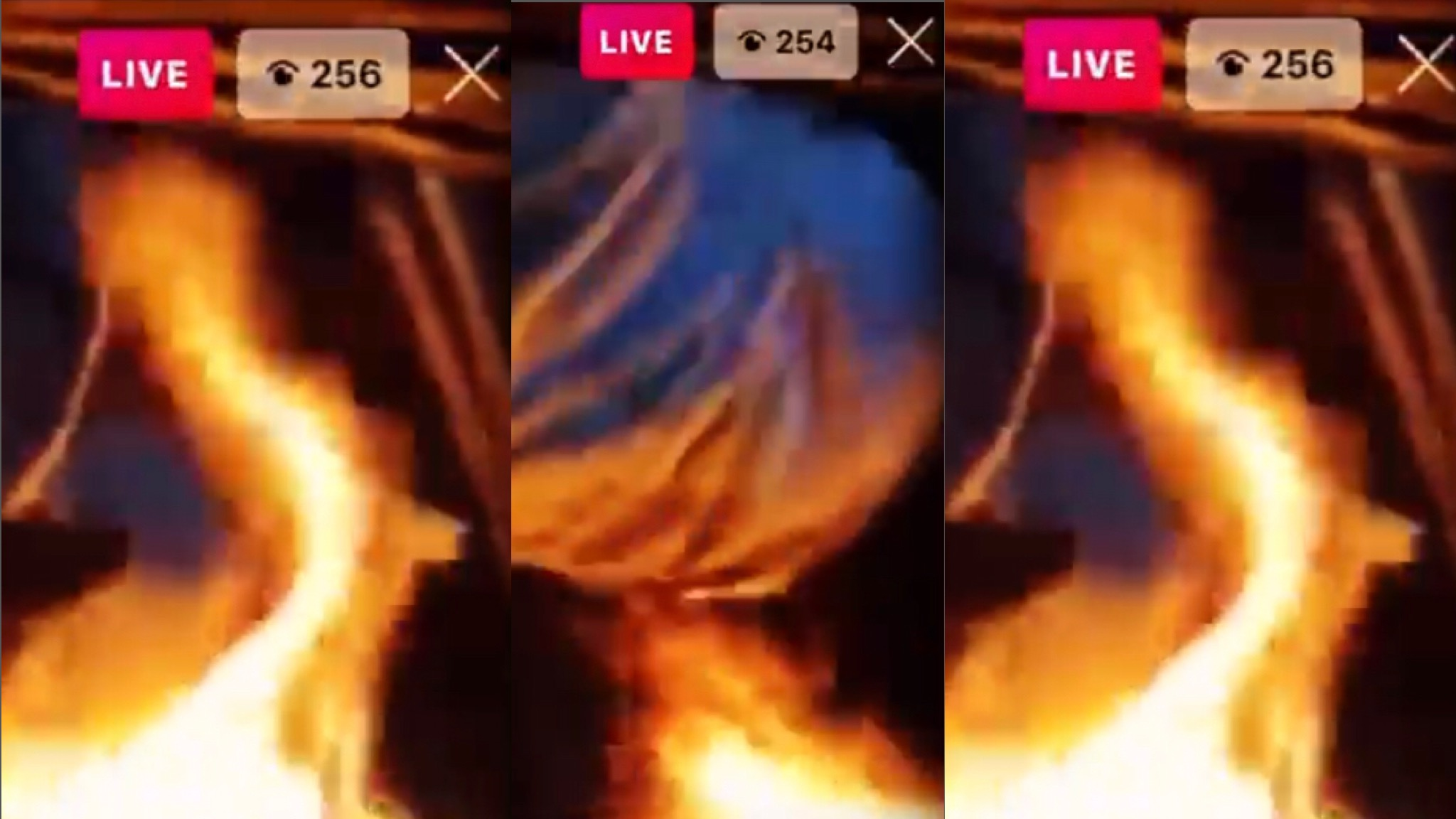 (Graphic Video) Thug Burnt His Opp Alive On Live!